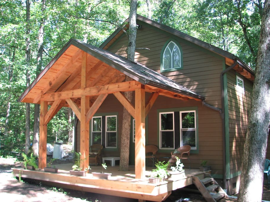 clarion river timberframe cabin cabins for rent in
