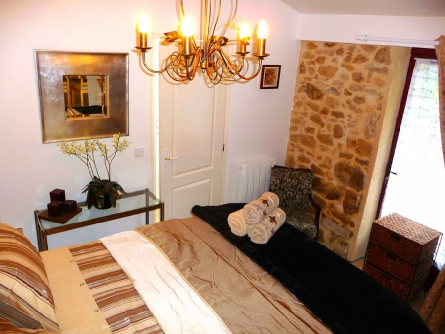 Bedroom - with the 'princess and the pea' bed