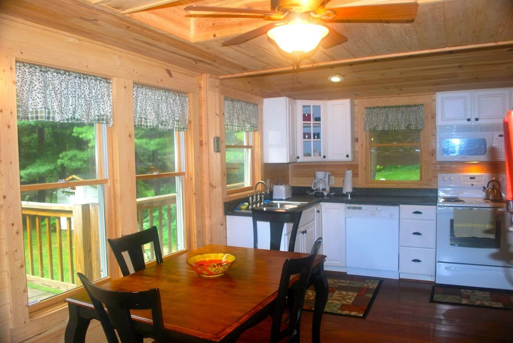Dining Area and Full Kitchen with River view