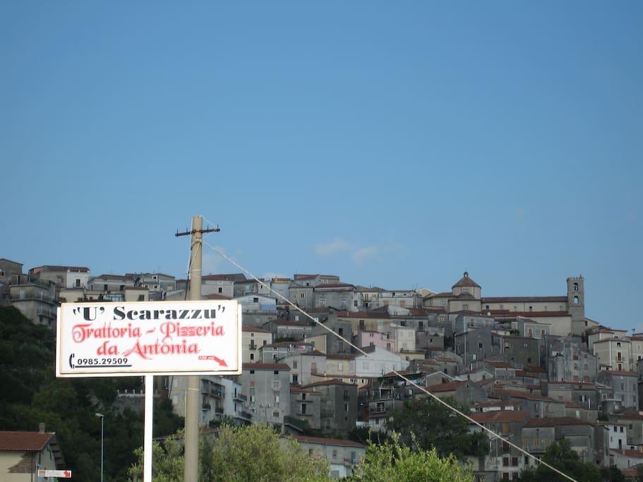 The town of Santa Domenica Talao.