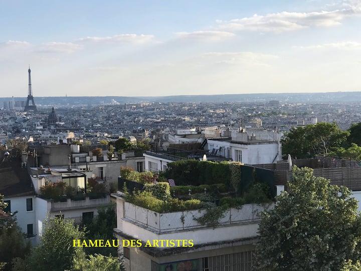 Montmartre Garden Terrace Calm Charm Romantism