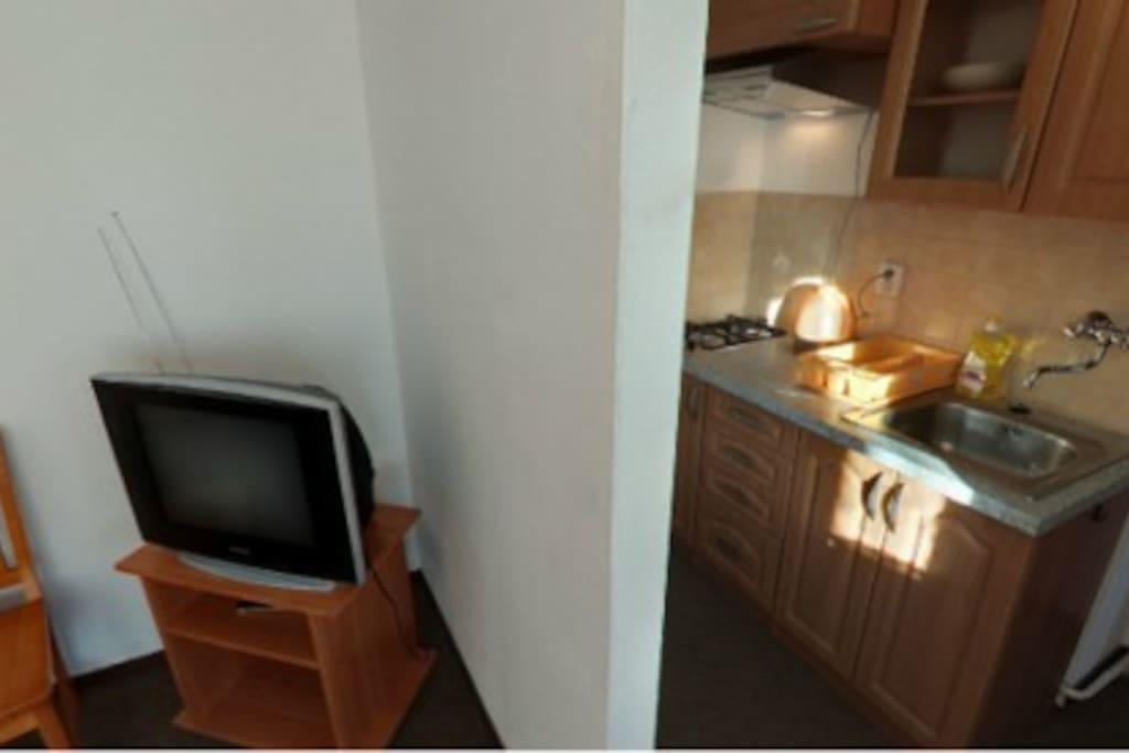 Dvojlôžkový Apartmán s vlastnou kuchynkou a kúpelňou