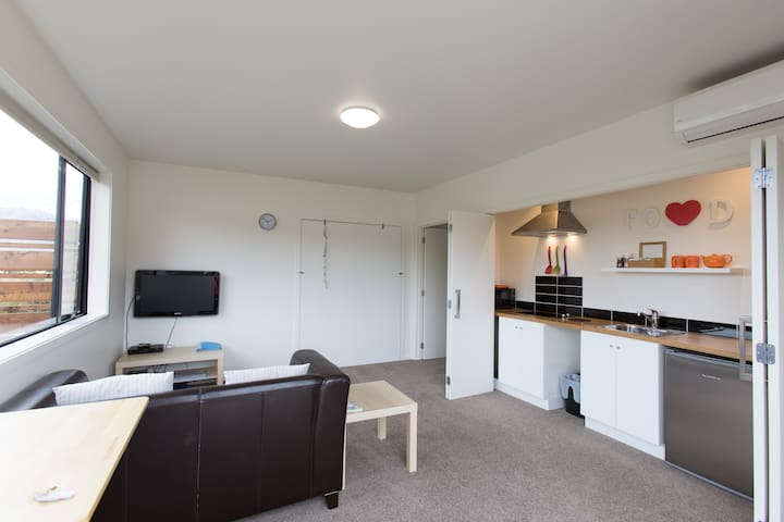 Lounge and kitchenette