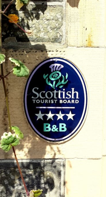 We are rated as a four-star accommodation provider by Visit Scotland. A very high standard is expected at this level.