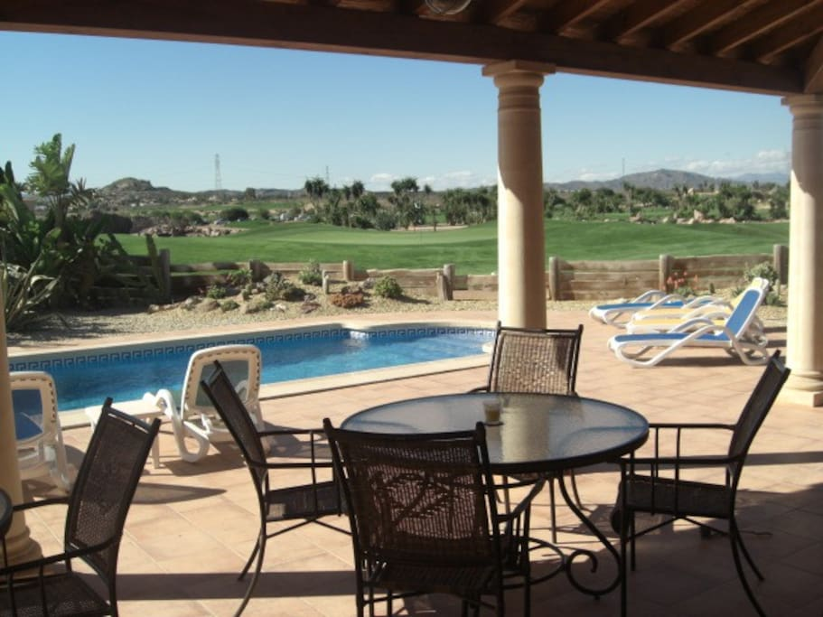 Patio and pool area