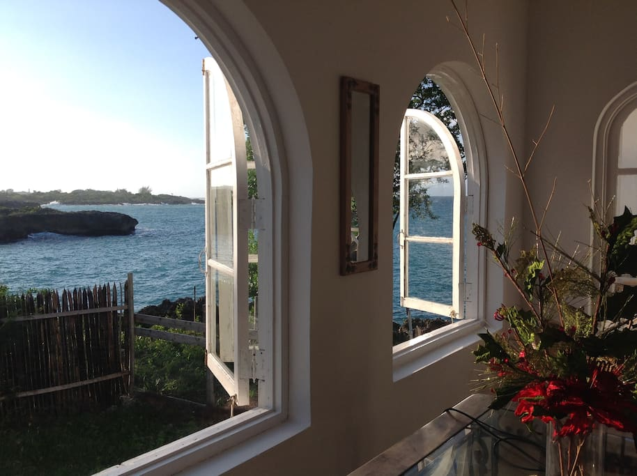 West down the coast from the dining room windows