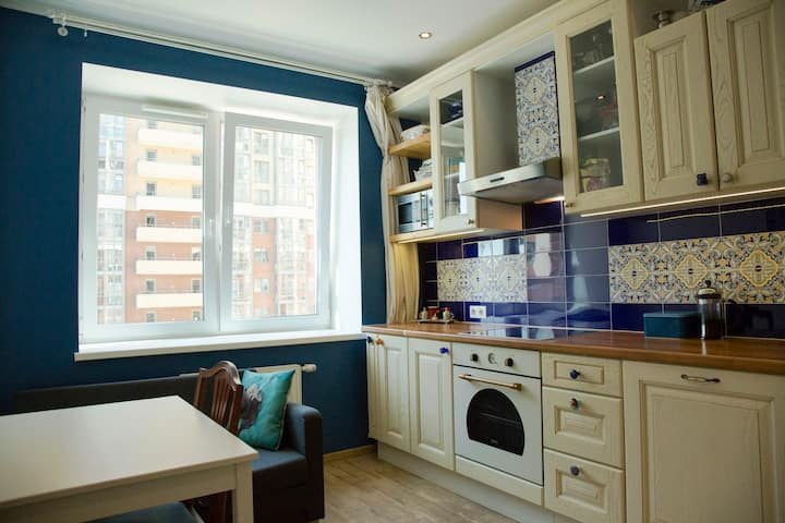 Cozy apartments in 35  min from city center.