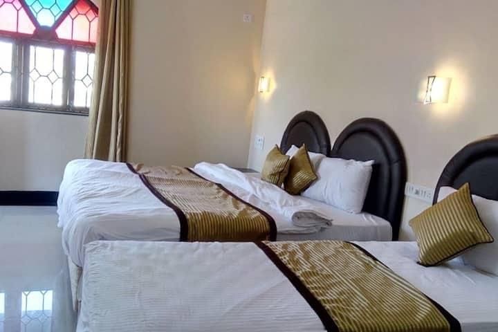 Tripple sharing luxury Rooms  on the Baga Beach