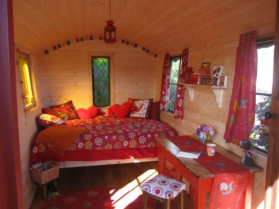 Inside of our Gypsy Wagon! Make yourself at home!