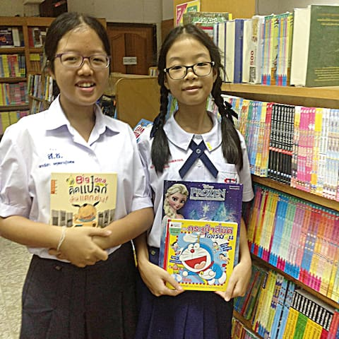 We selected books for donate to less-fortunate students in the surrounding area of my place.