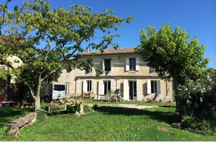 Petite chambre dans colocation - Lignan-de-Bordeaux - Huis
