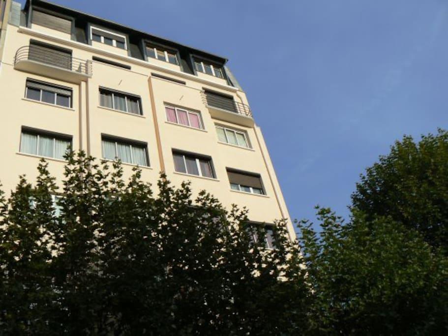 Immeuble rénové extérieurement