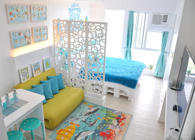 Relaxed Chic-Coastal Inspired unit in Tagaytay