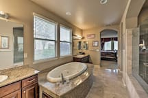 The master en-suite boasts ample room to get ready or just relax.