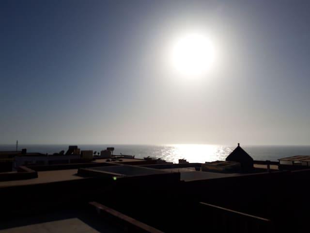 Vue mer depuis le rooftop