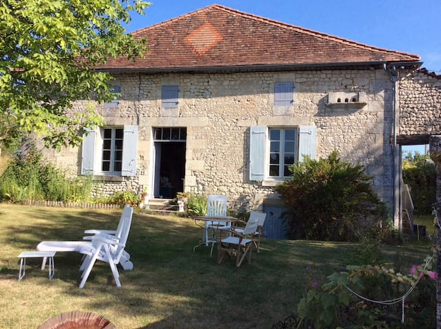 Old farmhouse set in quiet Charente countryside.