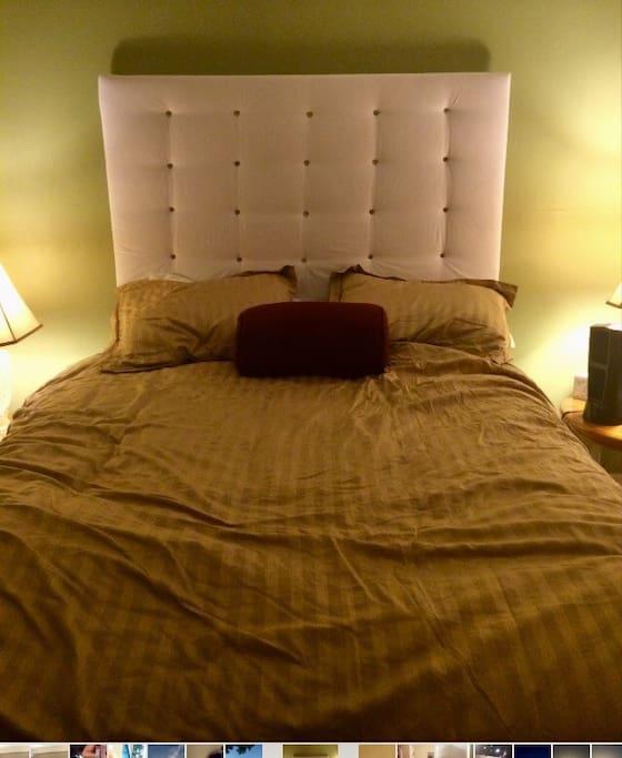 Queen size, pillow top mattress