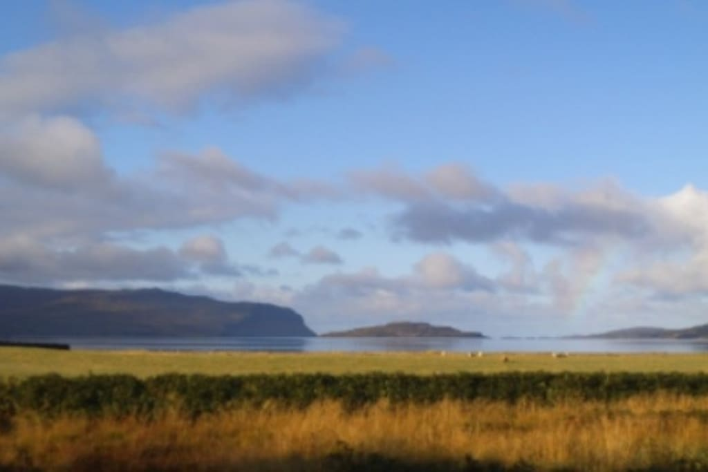 View down Loch Na Keal