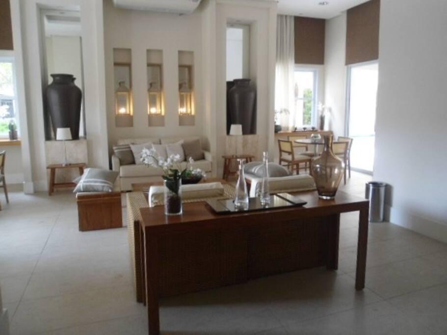 Lounge do edifício.