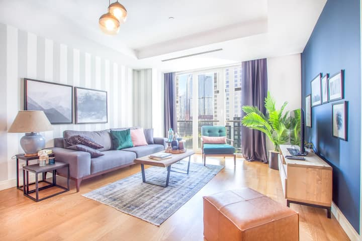 Gorgeous Mashattan 1BR with Outdoor Pool