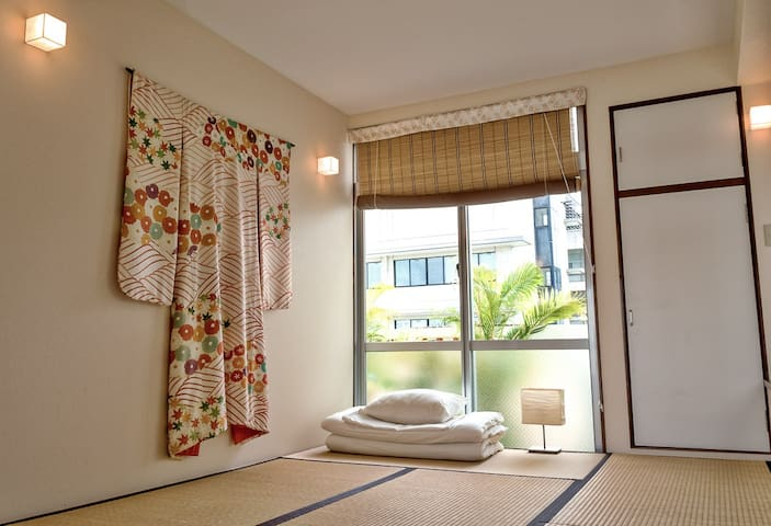 Delightful room. Japanese tatami with balcony