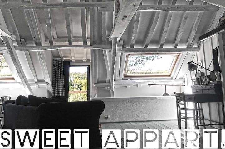 Chambre appartement  cosy de 2 à 4 personnes avec vue sur la vallée.