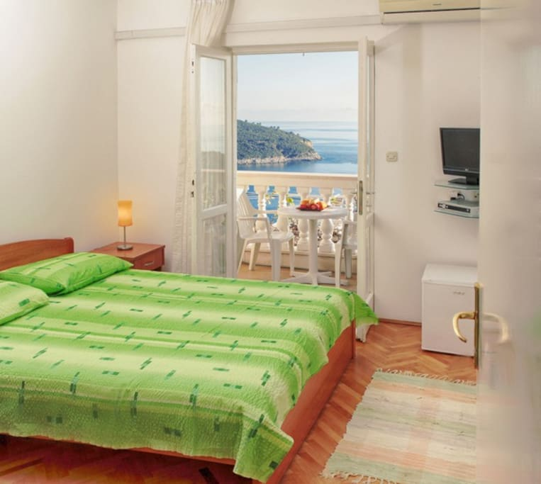 Room with private balcony