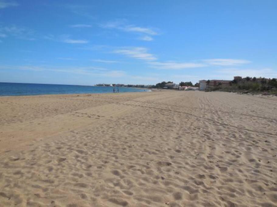 Grande plage de sable