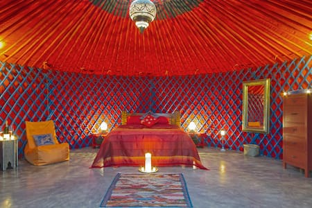 Luxury Mongolian Yurt with jacuzzi.