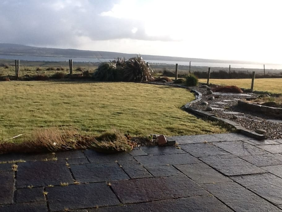View from back patio towards lahinch