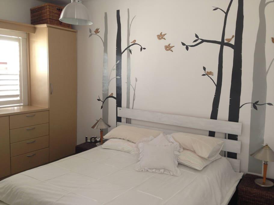 Sunny bedroom  with en-suite bathroom