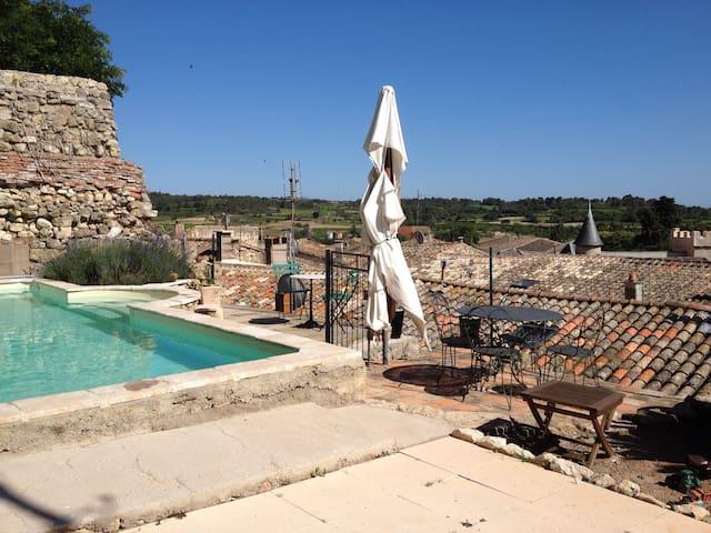 Maison de village avec piscine - Saint-Pons-de-Mauchiens - Hus