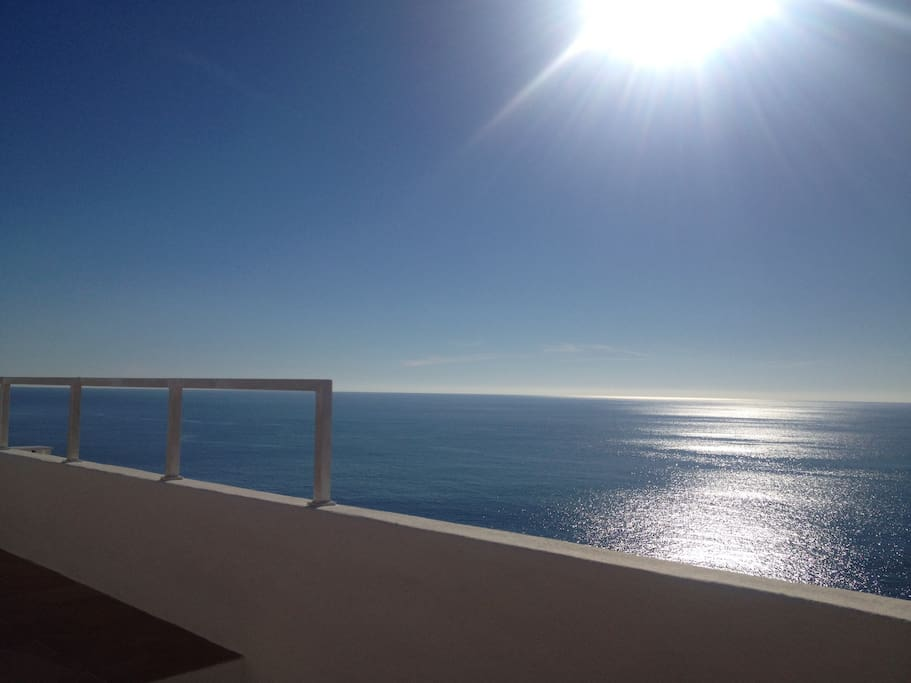 Stunning views from the terrace, say hi to the dolphins.