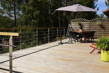 jolie maison avec 2 terrasses bois - Moliets-et-Maa