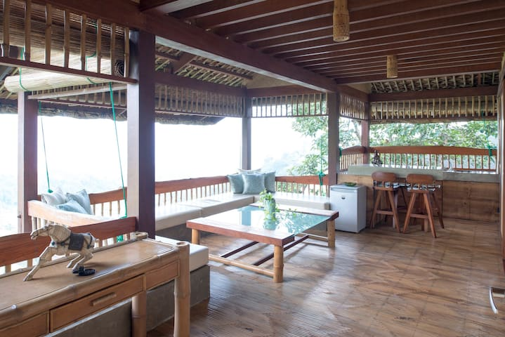 Living area with Taal view