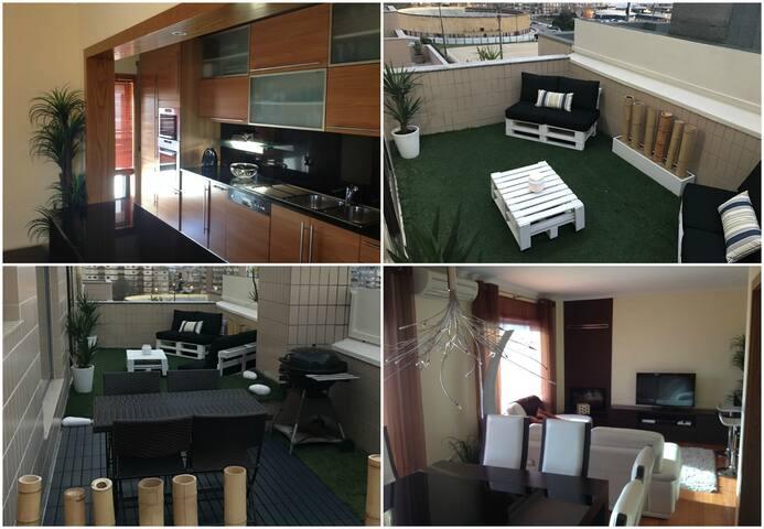 Apartamento T3 - Perto da praia, Terraço Lounge