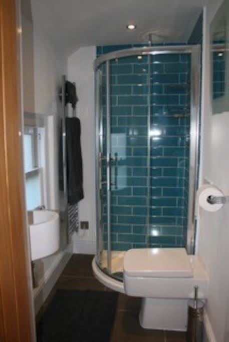Ground floor shower room with heated towel rail