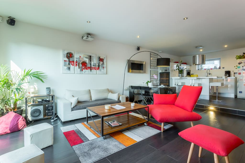 Maison loft avec jardin et terrasse coup de houses for for Jardins et terrasses lyon