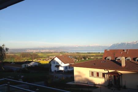Magnifique vue Lac Léman et Alpes - Yens