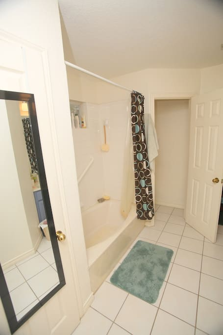 Master bath- shower, private toilet