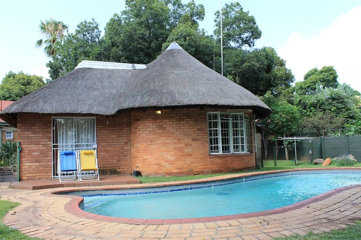 Thatched Safari-Style with Pool