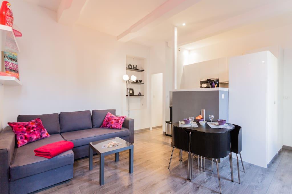 appart clim wifi calme vue jardin appartements louer aix en provence provence alpes c te. Black Bedroom Furniture Sets. Home Design Ideas