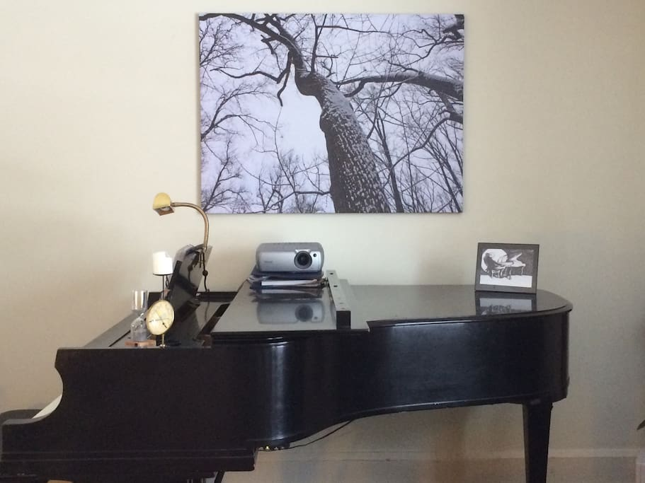 The Living Room and Grand Piano.