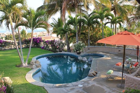 Casa Burnett is located and historic San Jose Del Cabo in Mexico we are in walking distance to down town and the beach. We have great views of the Ocean and mountains. A great home for entertaining with family and friends.