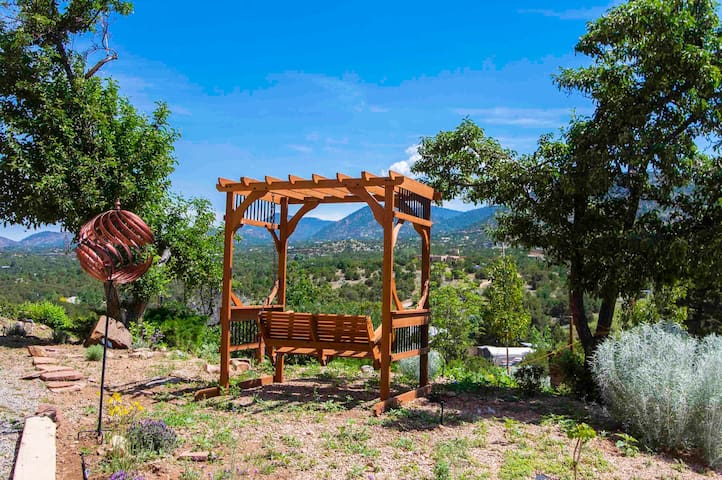 Take in the vista while relaxing on the swing.