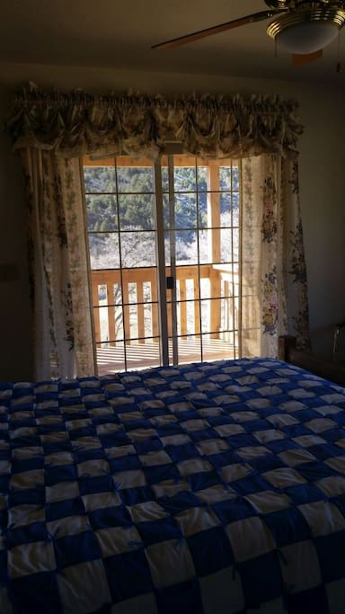 Upstairs bedroom/balcony