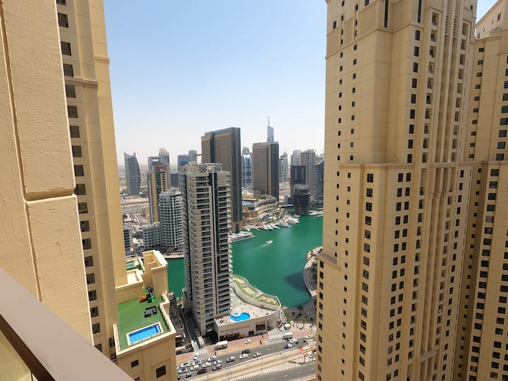 Large 1BR in JBR, Good View, High Floor and Quiet