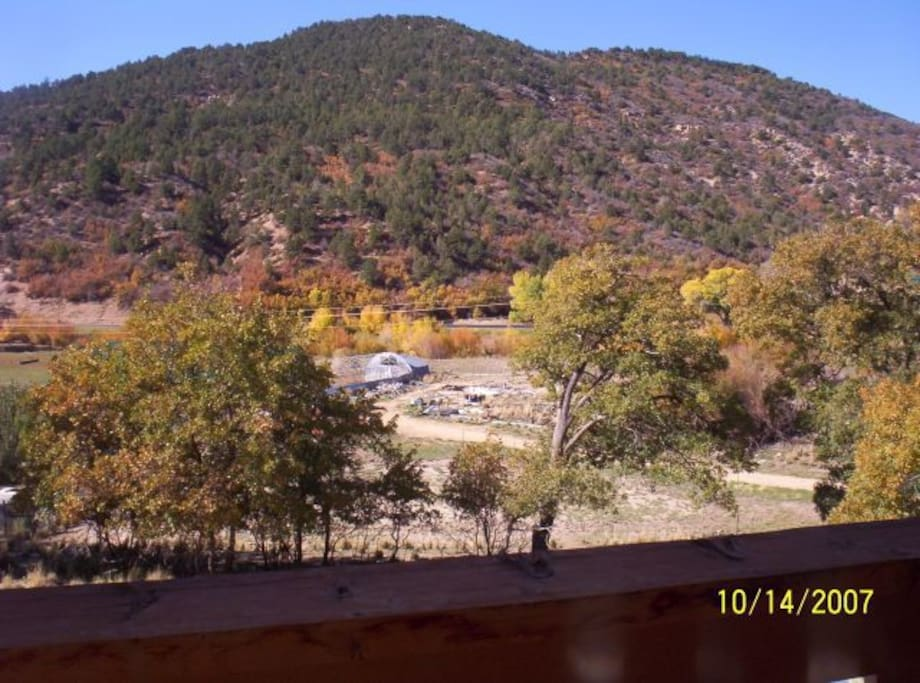 View of the ranch from the balcony