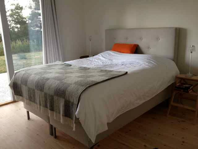This bed is now inside the Guest house - Queen size bed.  The Full size Sofa bed is also inside the guest house.