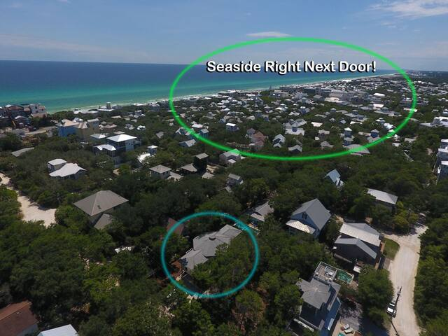 Prime 30A Seagrove Beach Rental on `Dogwood St` Located just Steps from Seaside Town Center +Private Pool